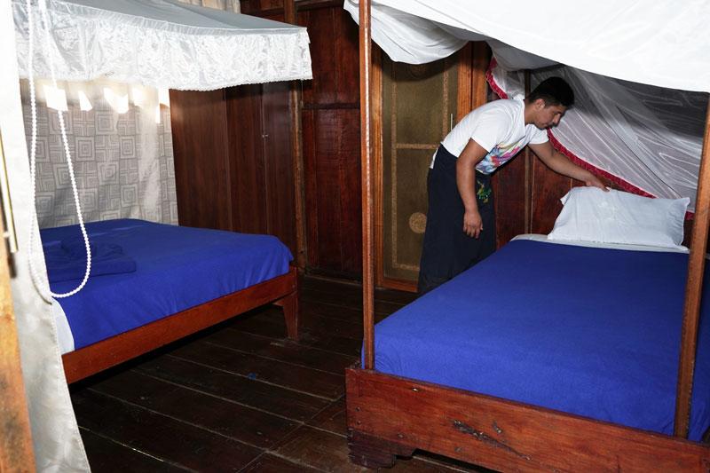 Double Room Beds Guacamayo Ecolodge